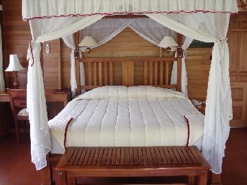 ガーデンヴィラのベッドルーム