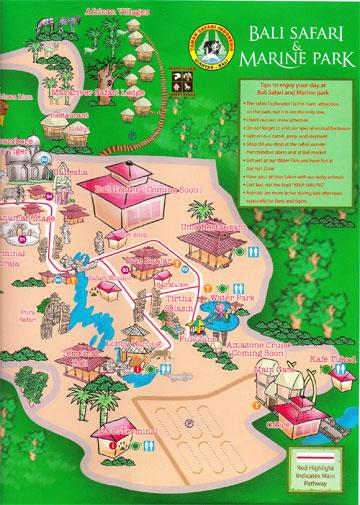 Bali Safari map1
